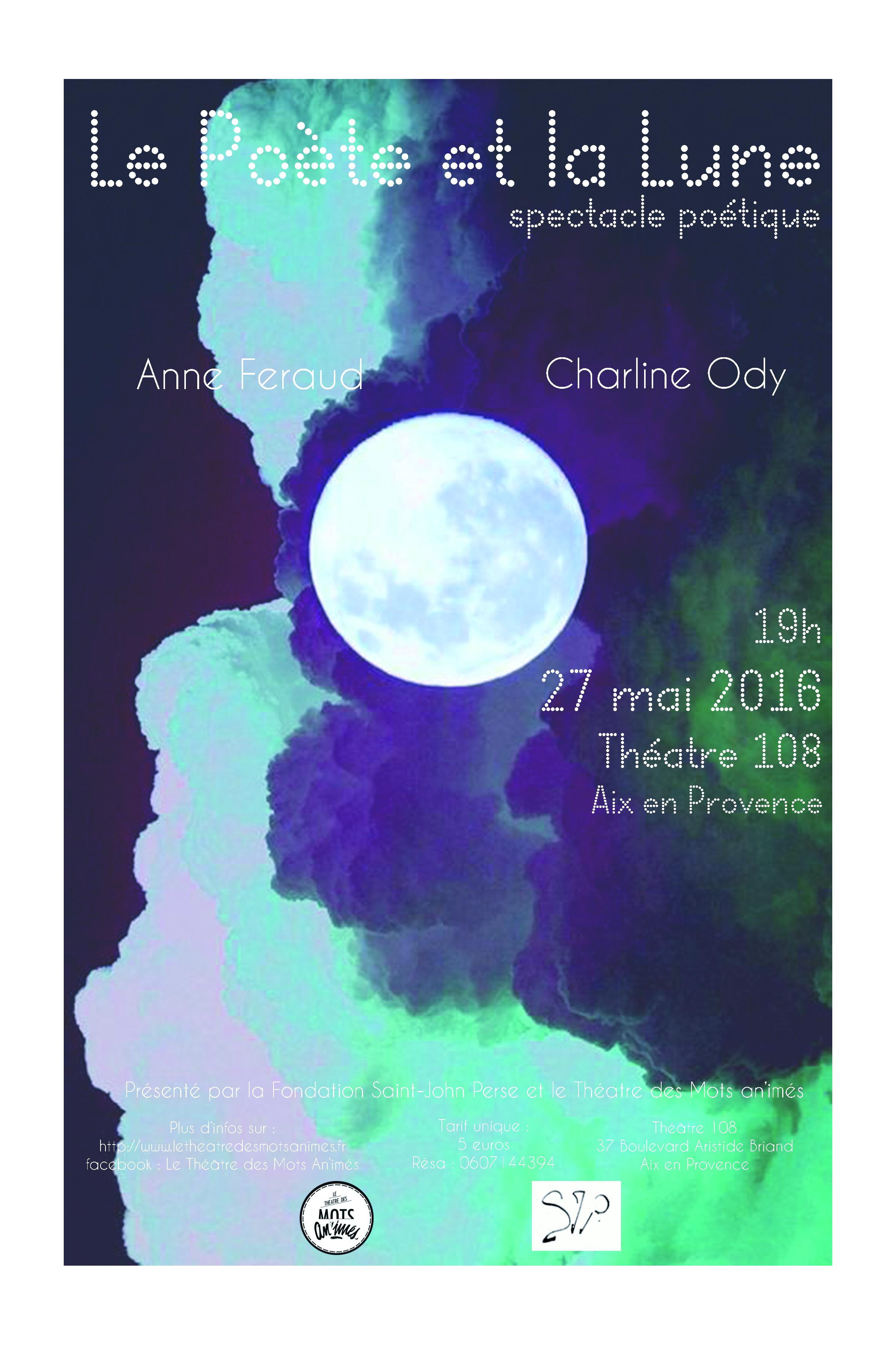 Affiche poete et la lune 2016