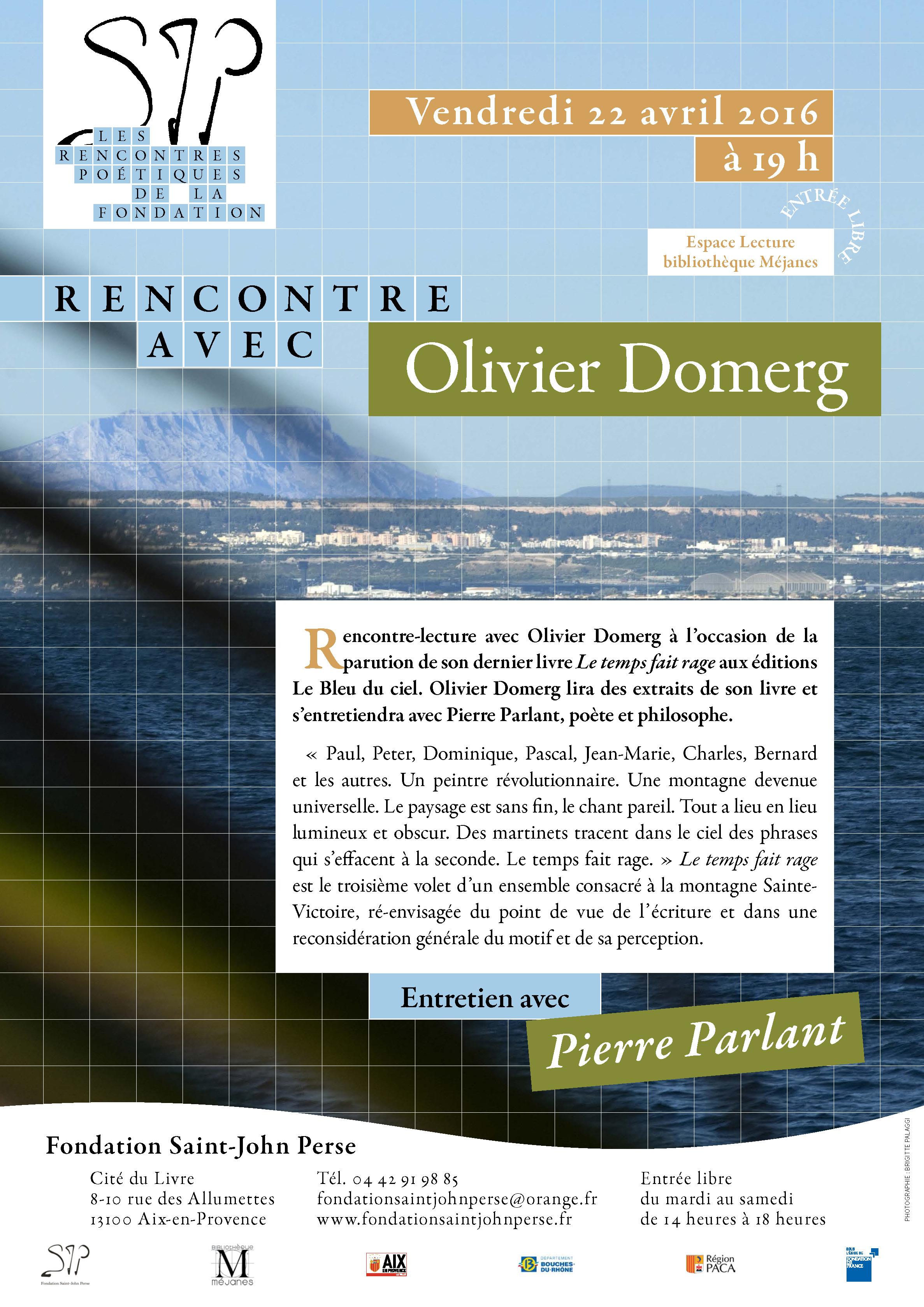 RENCONTRE POÉTIQUE avec OLIVIER DOMERG 22 avril 2016 vmail